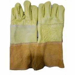 Free Size Plain Heavy Duty Leather Hand Gloves, 1-5 Inches, Finger Type: Full Fingered