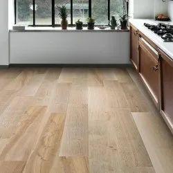 Brown Rectangular PVC Vinyl Flooring
