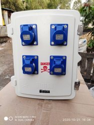 White Frp Single Phase Plug Socket Enclosures, IP-65, Size/Dimension: 300x200x 180 Mm