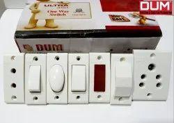 6 Amp Urea Dum Electrical Switch Board, 2 Socket