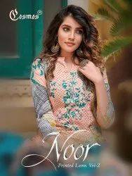 Cosmos Noor Printed Lawn Vol-2 Pakistani Style Dress Material Catalog