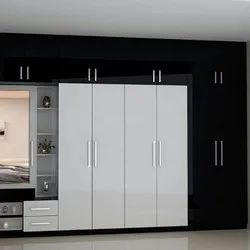 Wood High Glossy Wardrobe, For Home