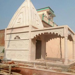 Marble Commercial Projects Sandstone Temple Construction Service