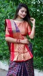 Pure Katan Silk Banarasi Patola