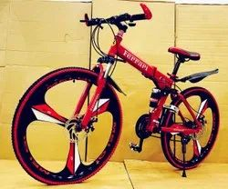 Ferrari Red Foldable Cycle