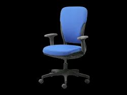 Fabric Pure Blue Godrej Interio Motion High Back Chair, Size: L76x D76x H99.50-108.80 In Cm