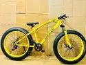 Yellow Jaguar Fat Tyre Cycle