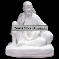 4.1 Feet Marble Sai Baba Statue
