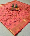 Lichi silk with weaving zari & Meenakari work saree with beautiful Contrast blouse