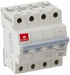 63A MCB SPN C Curve Electrical Circuit Breaker