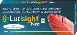 BILBERY EXTRACT, LUTEIN,ASTAXANTHIN AND ZEAXANTHIN TABLETS (LUTISIGHT NEO)