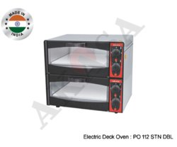 Akasa Indian Electric Stone Pizza Ovens Double Deck 12