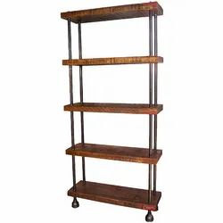 Brown Wooden Shelves, For Retail Shop
