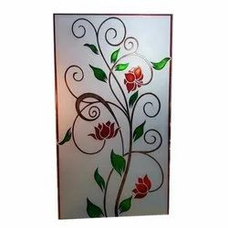 Designer Color Etching Glass, Thickness: 6mm