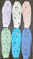 Bottam Rib Straight Fit Hosiery Printed Kids Leggings, Size: Newborn