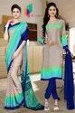 Italian Crepe Sare Salwar Combo For School Uniform