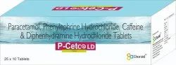 Paracetamol, Phenylephirine And Diphenhydramine Tablets (Pecet Cold)