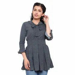 Lycra Casual Wear Women Tops, Size: XL