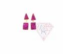 Electroplated Druzy Gemstone Stud Earring- With Nice Finishing