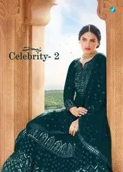 Your Choice Celebrity Vol-2 Georgette Lond Skirt Suits Catalog