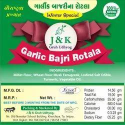 Garlic Bajra Rotala, Packaging Size: 200g