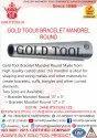 Gold Tool Bracelet Mandrel Round