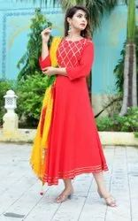 Fateh Enterprises Red Ladies Salwar Suits