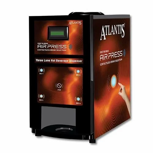 Atlantis Air Press Touchless Tea & Coffee Vending Machine 4 Lane