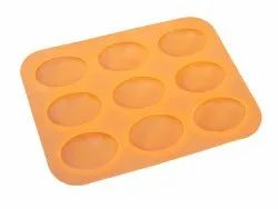 Egg Shape Silicone Soap Mold 9 Cavity