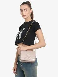 Yelloe Hand Crafted Peach Sling Bag