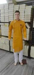 Cotton Party Wear Kurta Pajama, Handwash