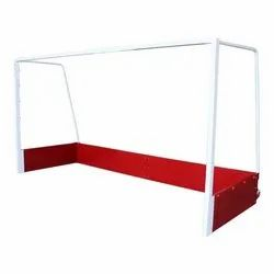 White Iron Movable Hockey Goal Post, For Outdoor, Size: 3.66x2.14x1MTR