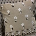 Green Embroidered Cotton Decorative Throw Pillow Case Boho 16X16 Cushion Cover