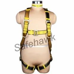 Black And Yellow Safety Harness Belt, For Fall Protection, Model Name/Number: Safehawk