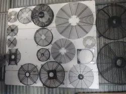 Wire Mesh Black Mild Steel Fan Guards Size: 200mm To 1200mm Dia
