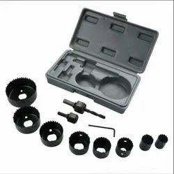 Carbon Steel 12 Pcs Hole Saw Kits, Size: 19-64mm