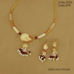 Meenakari Kundan Fusion Necklace Set