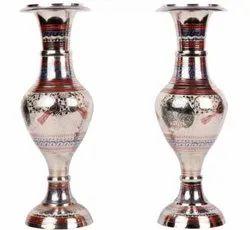 Nirmala Handicrafts Exporter Metal Brass Silver Flower Vase Decorative Showpiece And Decoratives