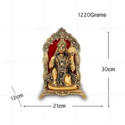 Gold Plated Hanuman Frame Big