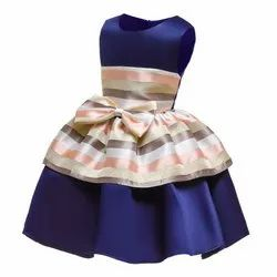Blue Sugar Rush Navy Girls Party Dress, Age Group: 7 To 8 Years