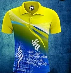 Sairaj Garments Polyester Mens Sublimation Print T-Shirt