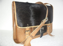 Hair On Leather Laptop Bag
