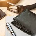 Slide case Men's wallet - Dark Brown