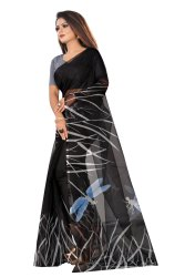 Casual Wear Digital Print Printed Saree, With Blouse Piece, 5.5 m (separate blouse piece)