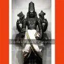 Black Matt Finish Marble Tirupati Balaji  Statue