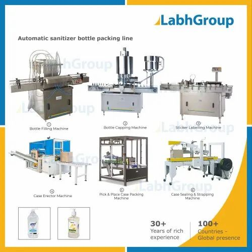 Automatic Hand Sanitizer Bottle Packing Line