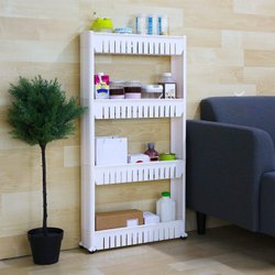 Plastic 4 Layered Slim Rack, For Home