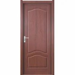 Glossy Brown 2500 mm PVC Door, For Home, Interior