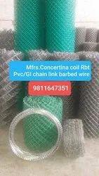 Silver Galvanized Iron Concertina coil