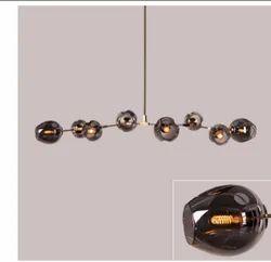 Modern Glass Chandelier 9 Lamps